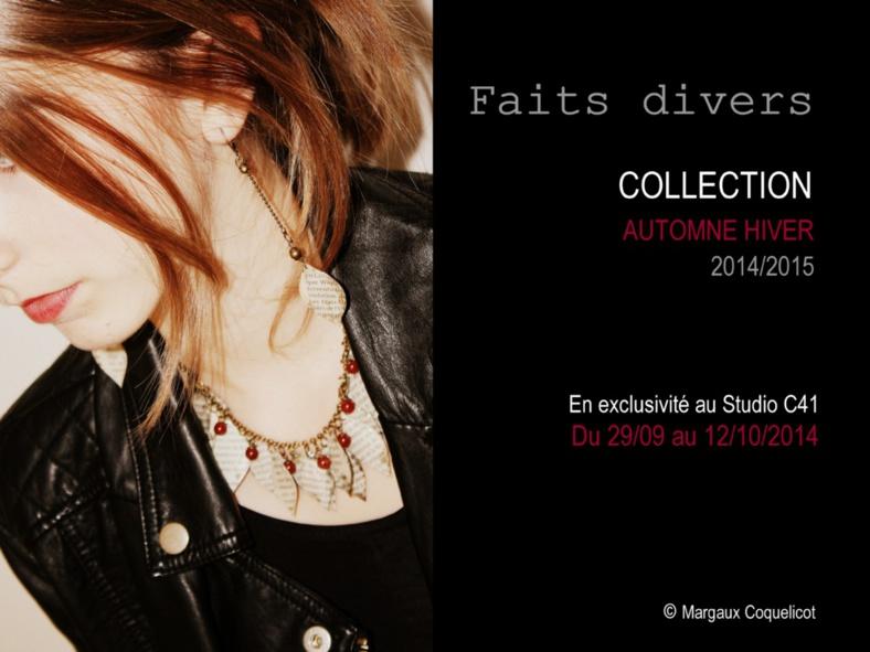 Collection bijoux Automne Hiver 2014/2015, Margaux Coquelicot Bijoux de créateur.