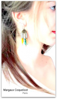 Boucles d'oreilles triangle Graffiti