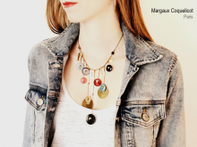 Collier plastron Rainbow